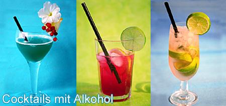 Cocktails mit Alkohol