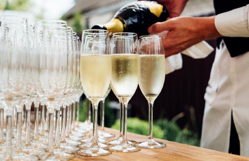 Getränke für eine Hochzeit oder Großveranstaltung